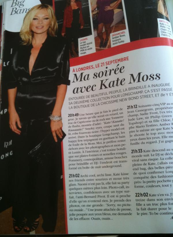 Ma soirée avec Kate Moss