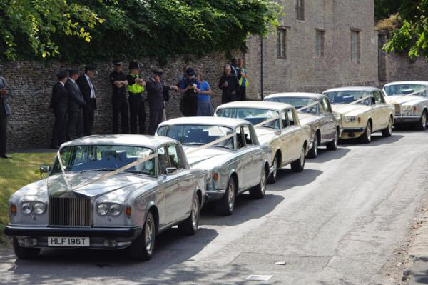 The Rolls Royce Parade of the wedding