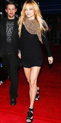 Alaia dress, Vuitton scarf & Dior shoes
