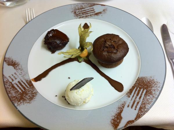 Déclinaison de trois chocolats