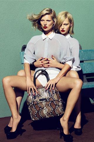 With Sasha Pivovarova for Longchamp