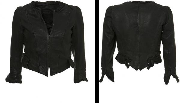 Kate Moss Topshop Grey Victorian Leather Jacket