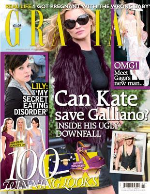Grazia = Can Kate Save Galliano ?