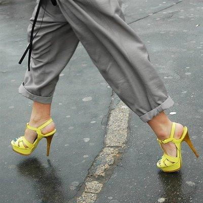YSL Tribute Yellow Shoes