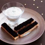 Mouillettes de caviar et milkshake de lieu jaune, Gilles Choukroun, MBC, Paris
