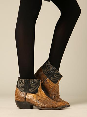 Vintage Cut-Off Snake Boots (Free People A/W 09-10)