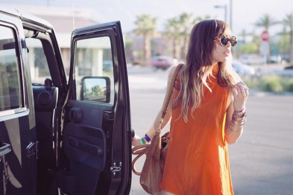 Rumi Neely = Orange Dress